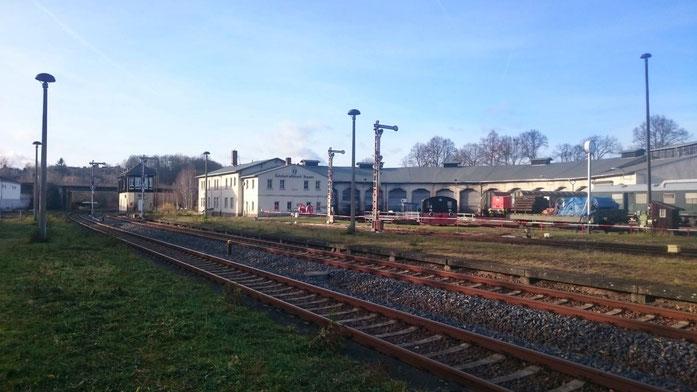 die Eisenbahnfreunde des Bw Nossen können künftig nicht mehr per Zug besucht werden