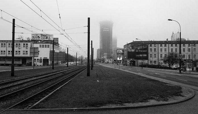Warschau, nach dem Eisenbahnmuseumsbesuch