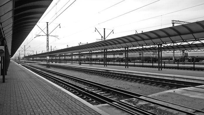 Bahnhof Chop mit Normal- und Breitspur
