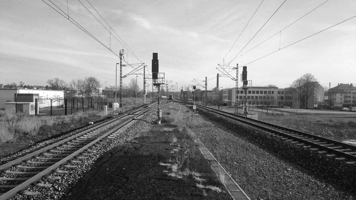 abgestellte Regionalbahn zur Fahrt nach Leipzig im Bahnhof Meißen