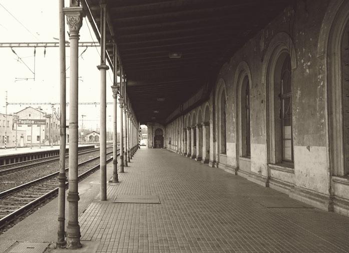Teplice, Bahnhof