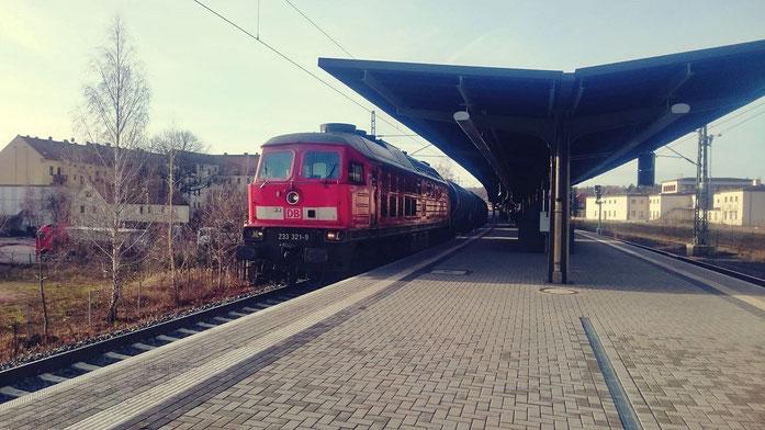 Güterzug vom Tanklager Rhäsa im Bahnhof Meißen