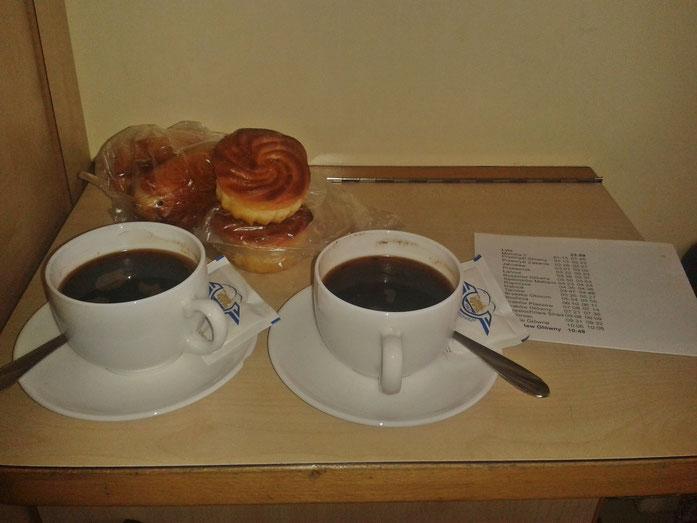 Kaffee im Nachtzug