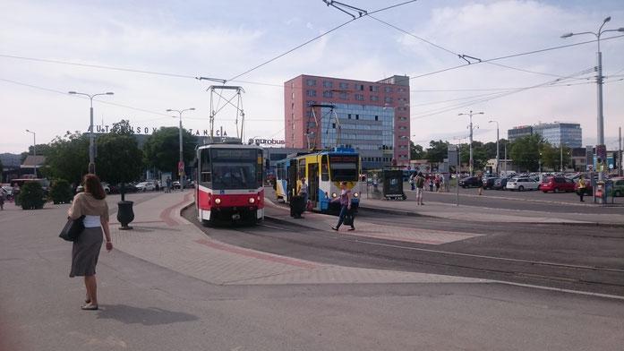 Košice, Bahnhofsvorplatz