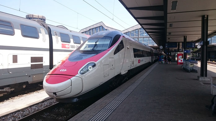 Pendolino nach der Ankunft in Basel SBB