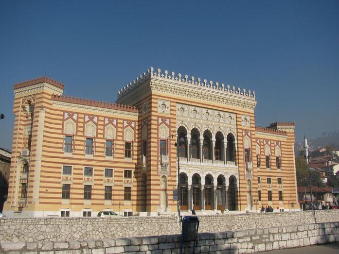 wiederaufgebaute Nationalbibliothek