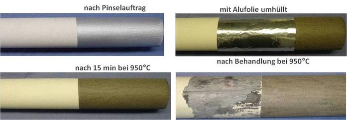 Antihaftschicht für Aluminiumoxidkeramikrollen für Öfen,  z.B. für die Warmumformung