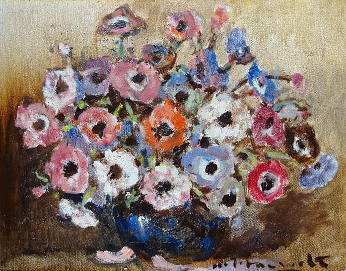 Pauwels (H.J.), kunstschilder. Schilderij bloemstilleven te koop.