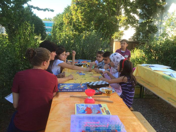 Spiel und Spass im Grünen gibt es beim Begegnungs-Café in St. Katharina