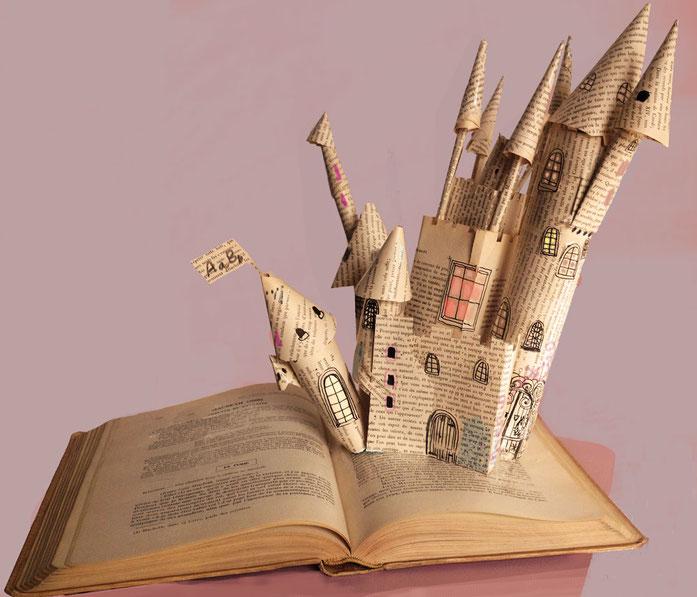 activité bricolage,chateau de papier,idee bricolage