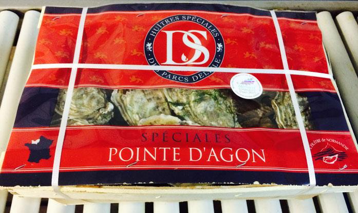Huître spéciales DS POINTE D'AGON : Affiné en Normandie Manche OUEST ( SCEA DELISLE )