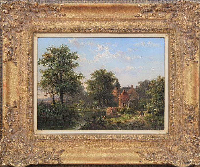 te_koop_aangeboden_een_landschaps_schilderij_van_de_kunstschilder_hendrik_pieter_koekkoek_1843-1927_hollandse_romantiek