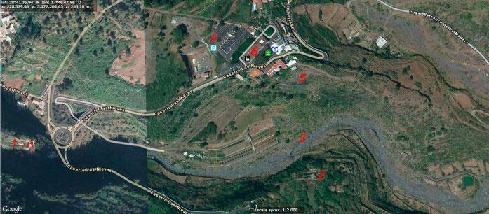 Mapa molinos Barranco del Río