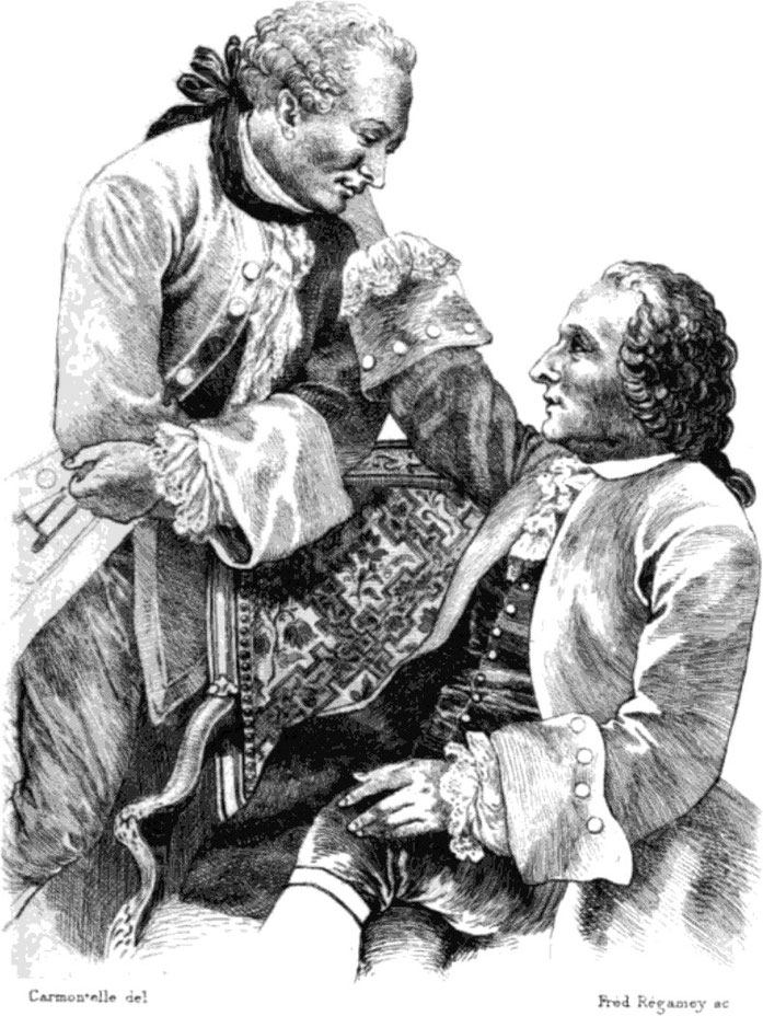 Louis Carrogis, Denis Diderot avec Frédéric Melchior Grimm, Friedrich Melchior Grimm