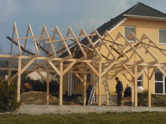 Aufbau Carport