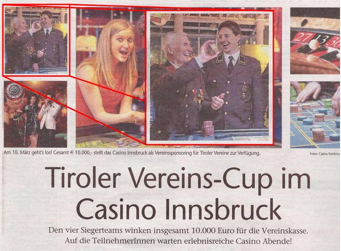 Zeitungsausschnitt vom Sonntag, 12.02.2017 der Tiroler Tageszeitung