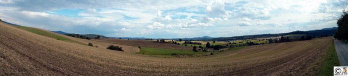 Blick vom Aussichtsturm Weifberg auf die Umgebung