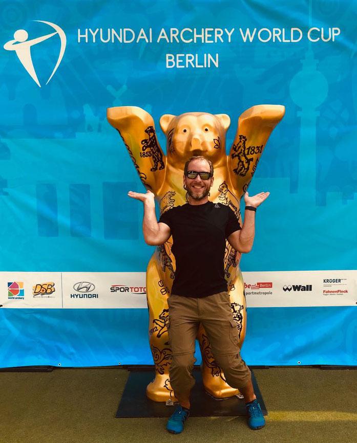 "Beim ""Hyundai Archery World Cup 2017"" in Berlin"