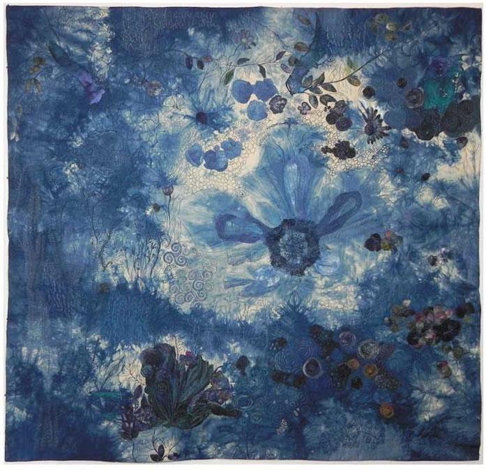 Blaue Stunde (2015) | 100 x 100 cm