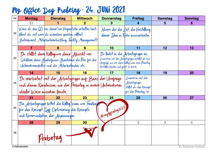 My Office Dog 2021 Probetag · Prozess als Schedule