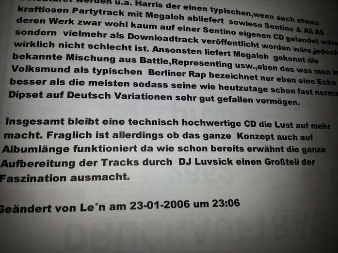 """MZEE (Germany)  DJ Luvsick & Megaloh - """"Zeit für den Hund"""" (2006)"""