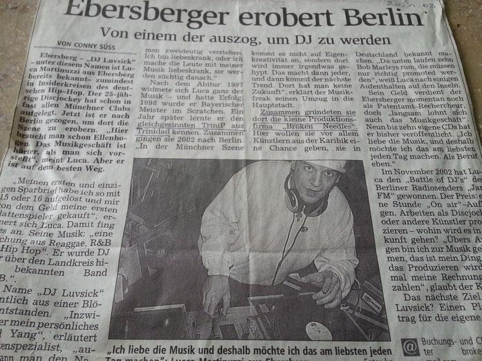 DJ Luvsick Interview 2 (Sueddeutsche Zeitung)