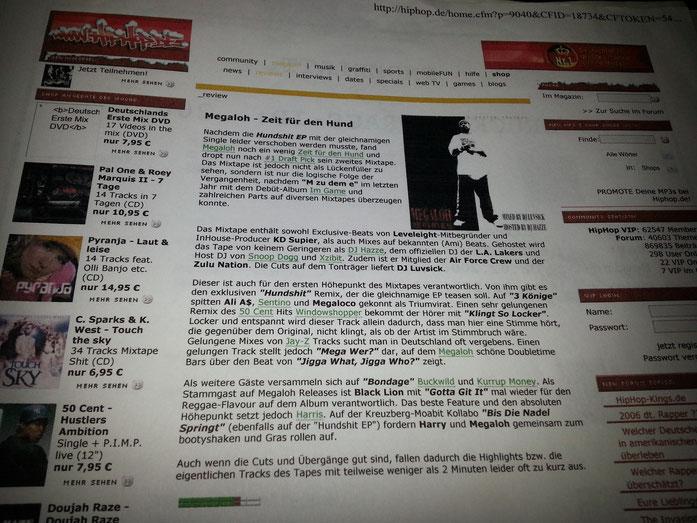 "www.HipHop.DE (Germany)  DJ Luvsick & Megaloh - ""Zeit für den Hund"" (2006)"