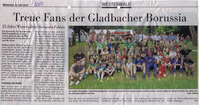 Presseartikel in der NNP Nassauische Neue Presse vom Mittwoch, 30.07.2014
