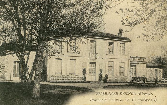 Actuellement Mairie de Villenave d'Ornon, photo prise vers 1900