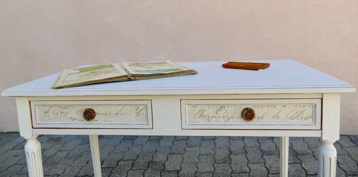 Schreibtisch weiss Kreidefarbe Jeanne d'Arc Living Vintage Shabby