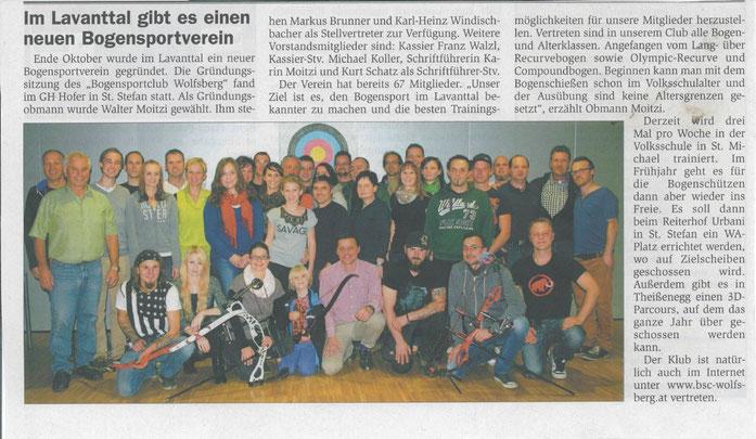 Unterkärntner Nachrichten 26.11.2014