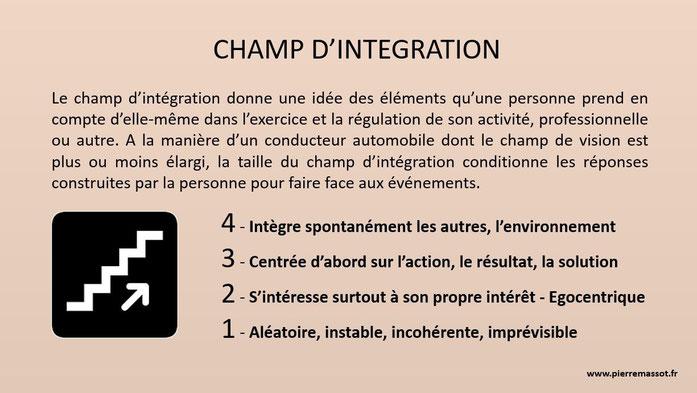 Définition du champ d'intégration & les 4 niveaux de champ d'intégration