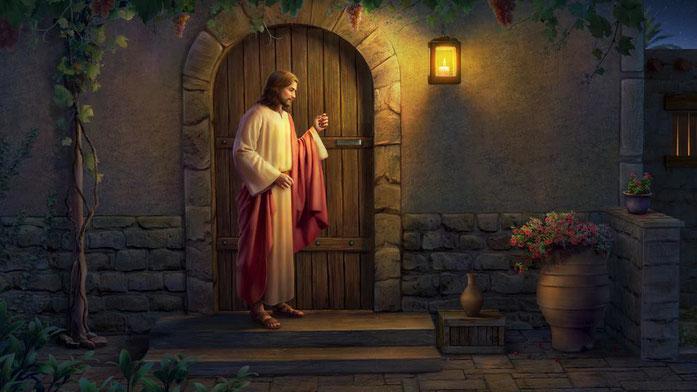 Le vainqueur qui entend la voix de Jésus et lui ouvre la porte s'assoira sur le trône de Jésus, tout comme ce dernier est assis sur le trône de Dieu (Apocalypse 3 : 20, 21). Le vainqueur tient ferme et persévère à l'heure de la tentation ou de l'épreuve.