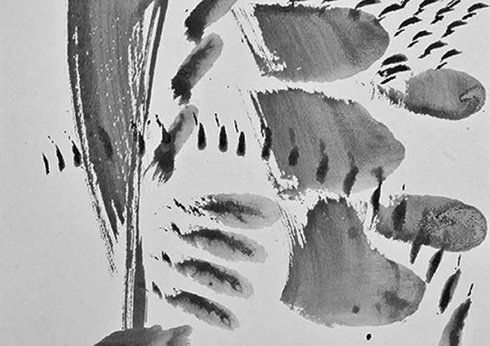 Pedro Meier – Oscar Wiggli – »Gemalte Musik«, chinesische Tusche – Fondation Oscar et Janine Wiggli, Muriaux bei Saignelégier Jura. ARGOL Records, Edition IROISE Photo 2012 © Pedro Meier Multimedia Artist / ProLitteris, Gerhard Meier Weg, Niederbipp