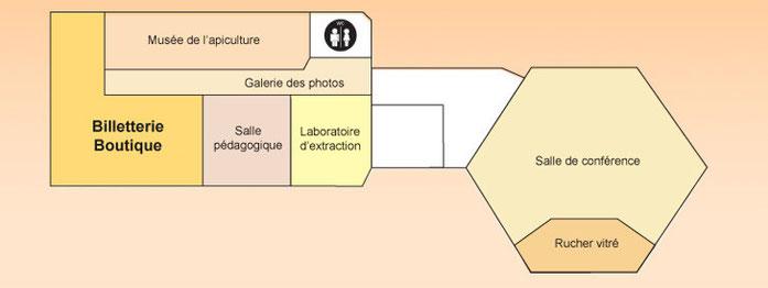 Plan de la Maison du Miel et des Abailles du Val Dunois