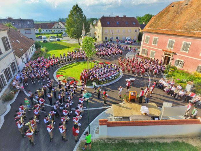 Festakt Bezirksmusikertreffen Hainersdorf 2016, Musikertreffen