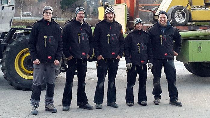 Team 2015: Valerio Cavelti, Hannes Platz, Paul Caflisch, Cyrill Näf, Nino Kunfermann
