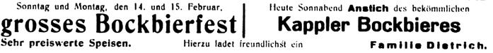 Aus der Burkhardtsdorfer Zeitung Februar 1932
