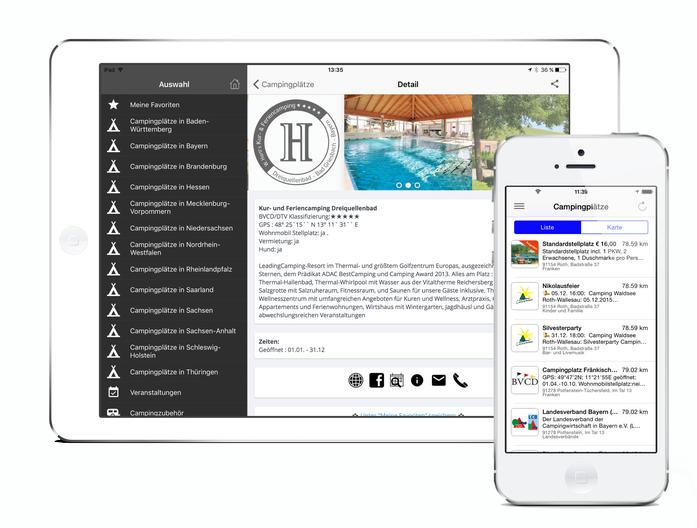 Campingplätze Deutschland - die App für Camper