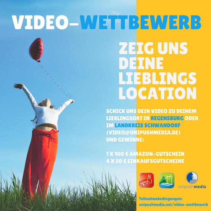 Video-Wettbewerb: Zeig uns deine Lieblings-Location in Regensburg oder im Landkreis Schwandorf