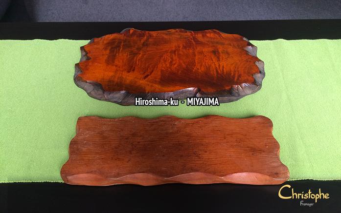 Planche du haut : bois de cerisier / Planche du bas : bois de vieux hêtre