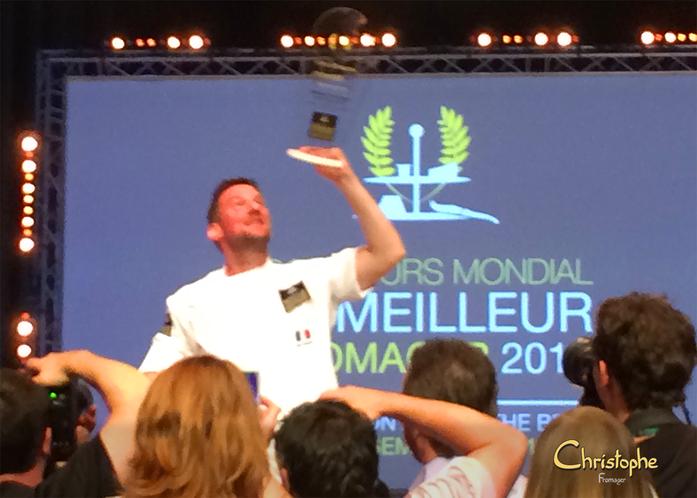Fabien DEGOULET - 1er et Vainqueur du Concours Mondial du Meilleur Fromager !!!