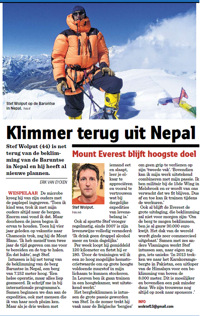 Het Nieuwsblad 06 December 2011