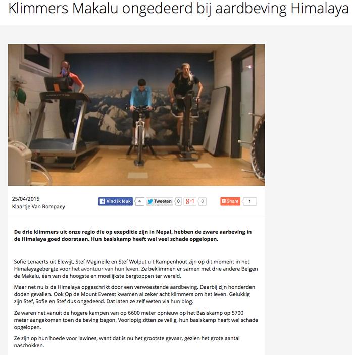 RingTV.be 25 april 2015