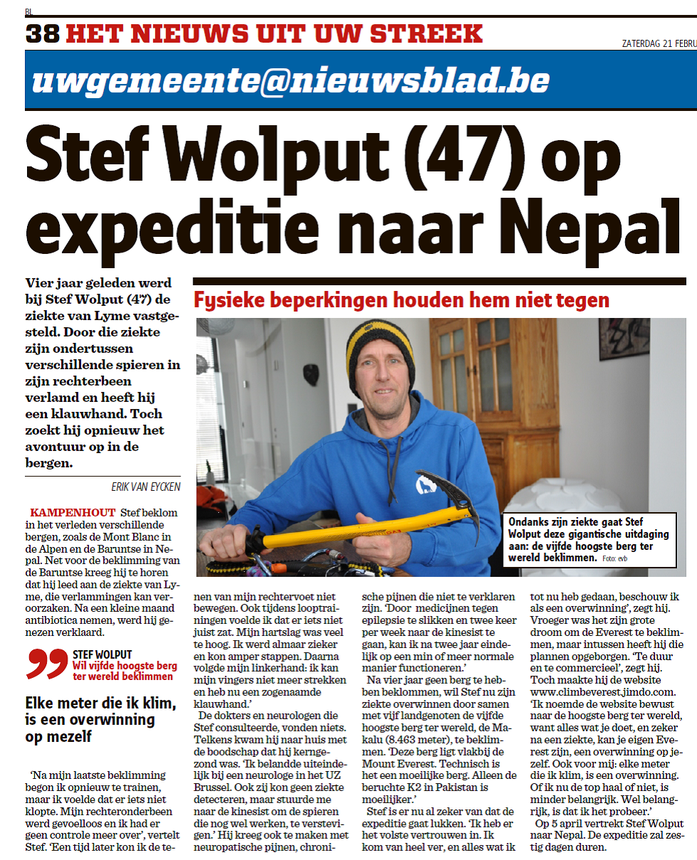 Het Nieuwsblad 21 Februari 2015