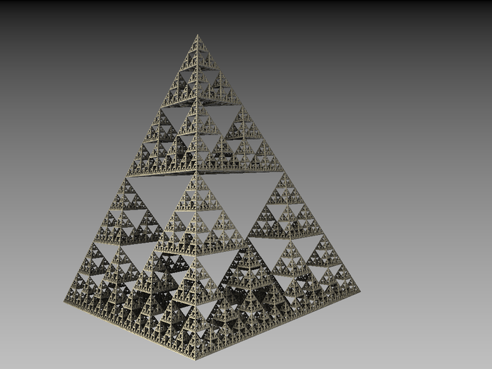 Sven Fauth - Fraktale Kunst - Sierpinksi Pyramide