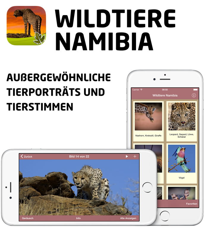 Wildtiere Namibia App