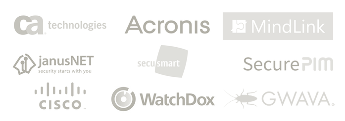 ISEC7´s solution partners are ca technolgies, Acronis, MindLink, janusNET, secusmart, SecurePIM, cisco, WatchDox, GWAVA