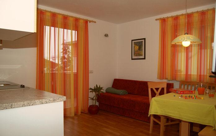 Wohnküche Furchetta für 2-5 Personen, eigener Balkon