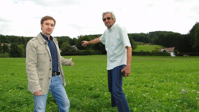 GR Rothbart und GR Binder setzen sich für den Erhalt der Natur ein.